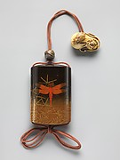 Case (Inrō) with Design of Dragonfly (obverse); Praying Mantis (reverse)