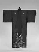 Summer Kimono with Sagi and Reeds