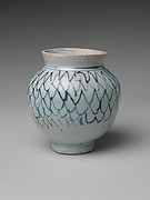 Jar with Stylized Net Design