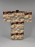 """Man's Under-Kimono (Nagajuban) with """"Italy in Ethiopia"""" Symbols"""