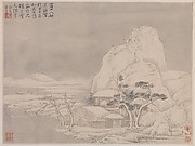 Snowscape, from Album for Zhou Lianggong