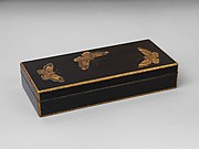 Box for Paper (Ryōshibako) with Decoration of Butterflies and Autumn Grasses