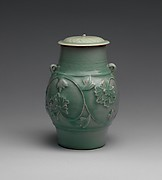 Jar with peony scroll