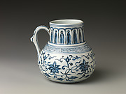 Tankard with Peony Scroll