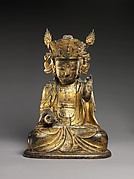 Seated bodhisattva (left attendant of a triad)