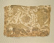 Textile with Phoenix, Winged Animal and Flowers