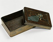 Box with Design of Benkei and a Bell