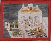 Maharana Ari Singh with His Courtiers Being Entertained at the Jagniwas Water Palace