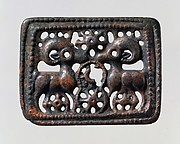 Belt Plaque with Confronted Rams