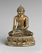 Seated Buddha with Double-Lotus Base
