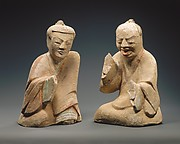 Pair of Seated Figures Playing Liubo