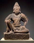 Garuda (Vishnu&#39;s Mount) Seated in Royal Ease