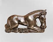 Belt Plaque in the Shape of a Crouching Horse