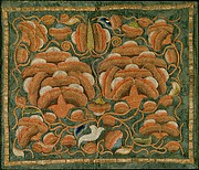 Panel with Peonies and Butterfly