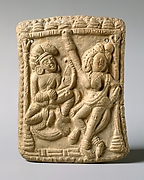 Plaque with a Dancer and a Vina Player
