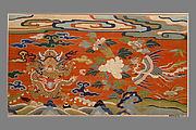 Panel with Dragon, Phoenix, and Peonies