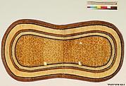 Saddle Rug with Pattern of Cracked Ice