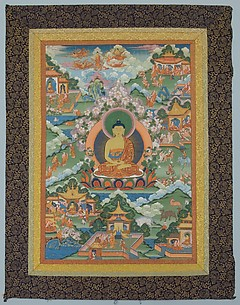 Thanka with Buddha
