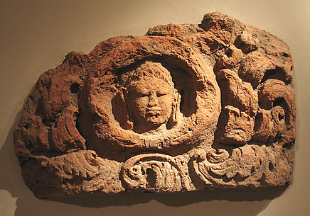 Architectural Element with Head of a Buddha