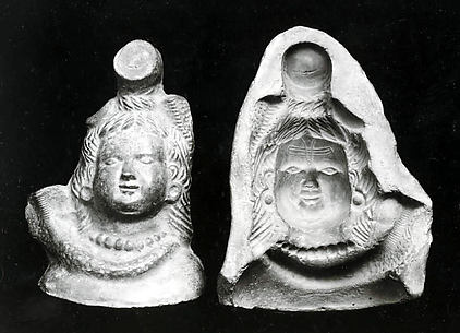 Mold and Impressions for a Bust of Shiva
