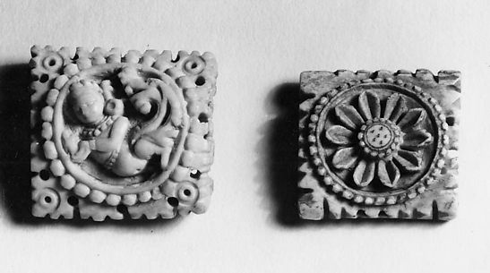 Two Plaques from a Ritual Apron (Kinnari and Lotus Flower)
