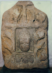 Antefix with Head of a Buddha