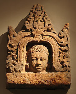 Antefix with Head of a Male Deity