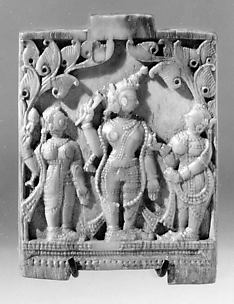 Plaque with Krishna and Gopis