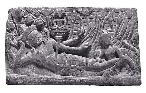 Vishnu Resting on the Serpent Shesha (Vishnu Anantashayin)