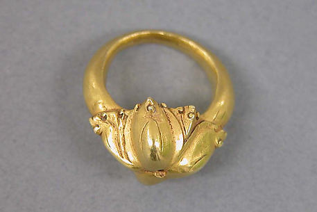 Ring with Lotus Motif