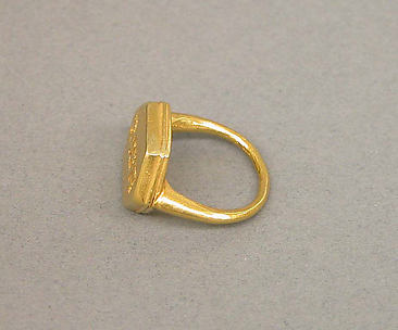 Ring with Plain Hexagonal Bezel and