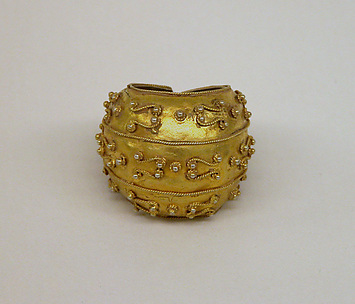 Spherical Weighted Clasp with Filigree Ornamentation