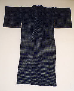 Woman's Summer Kimono with Design of Small Crosses