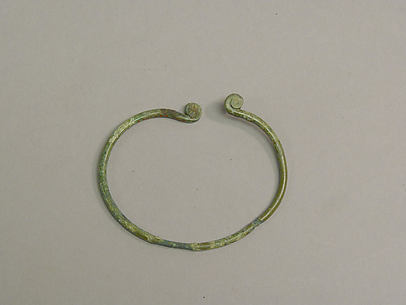 One from a Pair of Wire Bangles with Twisted End