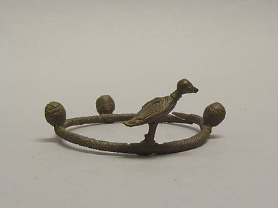 Anklet with a Bird and Balls