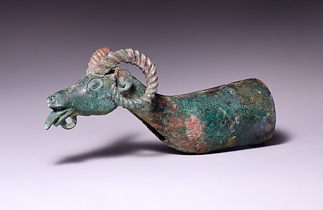 Chariot Pole Ornament with Ram's Head