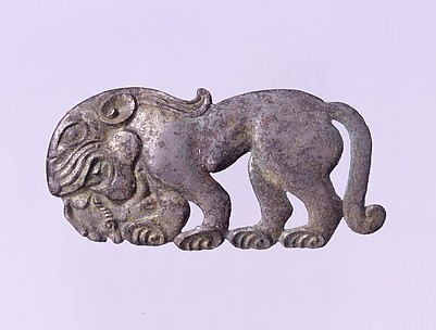 Belt Plaque in the Shape of a Standing Feline