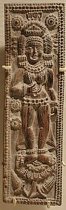 Plaque with the Goddess Durga Standing on a Lotus