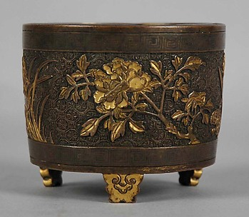 Incense Burner with Peonies