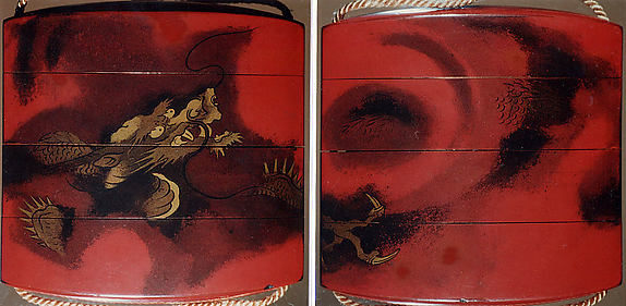 Case (Inrō) with Design of Dragon among Swirling Clouds