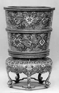 Flower Pot with Stand (One of a Pair)