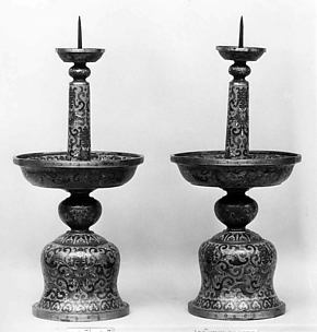 Candlestick from a Set of Five-Piece Altar Set (Wugong)