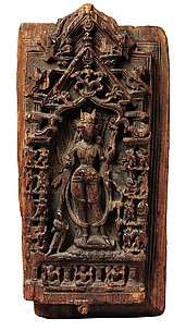Shrine Relief Fragment Depicting Ashtamahabhaya Tara, the Buddhist Savioress