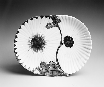 Molded Dish with Chrysanthemum Design