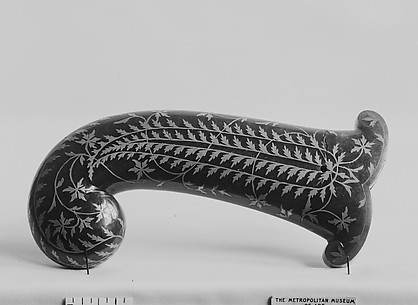 Dagger-Handle Inlaid with Silver