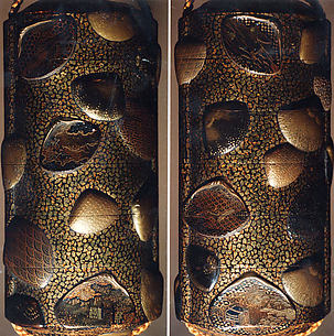 Case (Inrō) with Design of Shells