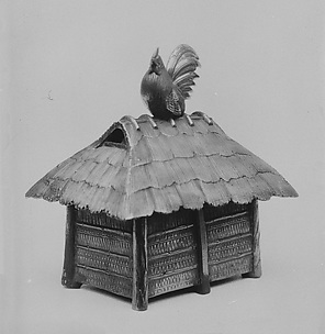 Censer in Form of a Rooster Perched on a Rooftop