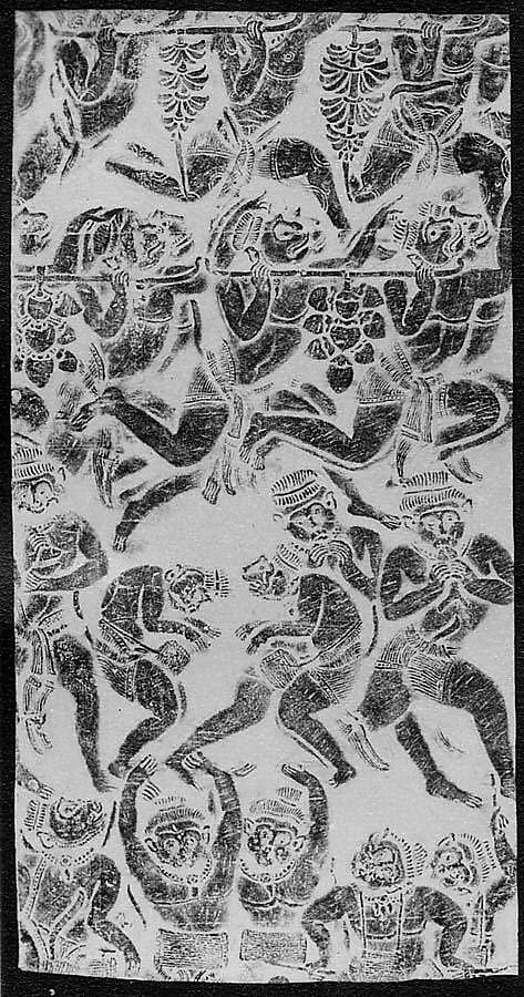 Rubbing of Monkeys