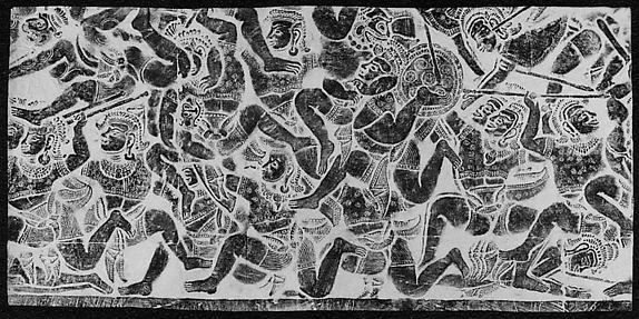 Rubbing of a Scene from the Ramayana