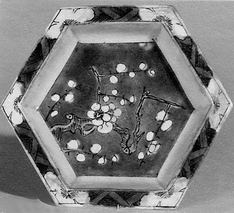 Hexagonal Saucer (one of a pair)